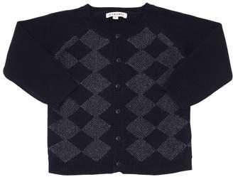 Knitted Cashmere, Angora & Wool Cardigan