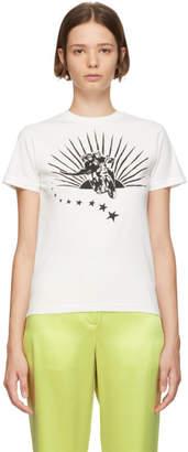 ALEXACHUNG White Boxy Motorcycle T-Shirt