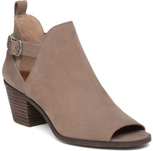 Lucky Brand Banu Leather Peep-Toe Booties $129 thestylecure.com