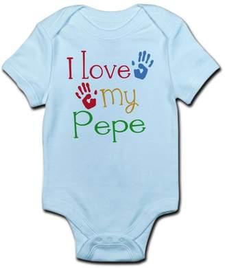 Pépé CafePress - I Love Cute Infant Bodysuit Baby Romper
