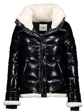 SAM. Women's Willa Shearling-Trimmed Down Puffer Jacket