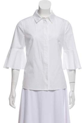 Draper James Fluted Sleeve Button-Up Top