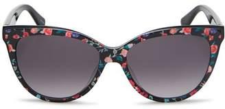 Kate Spade Women's Daesha Floral Gradient Round Sunglasses, 56mm