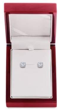 Lord & Taylor Diamond and 14K White Gold Stud Earrings, 3 TCW