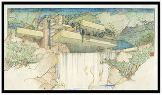 "Frank Lloyd Wright 1000museums Framed Art Print ""Fallingwater"""