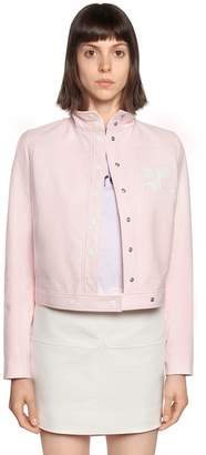 Courreges Crackled Vinyl Coated Cotton Jacket