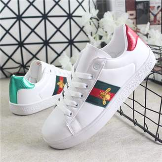 HaHapo Women Casual Shoes PU Leather Women Flat Star Golden Trainers Women Student Female shoes35-44