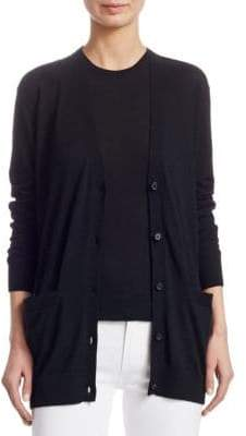 Ralph Lauren Iconic Style Cashmere Long Sleeve V-Neck Cardigan