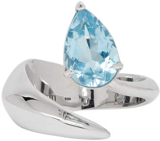 Alan Crocetti Silver 104 Topaz Crystal Ring