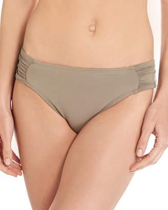 LaBlanca La Blanca Island Goddess Shirred-Side Hipster Swim Bikini Bottom