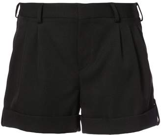 Saint Laurent foldover hem shorts