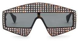 Gucci Fashion Show Dark Havana& Crystal Mask Sunglasses/99MM