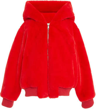 Apparis Lily Hooded Ears Faux Fur Kids Coat
