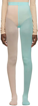 Marc Jacobs Pink and Blue The Left and Right Tights