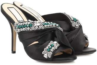 N°21 Embellished satin sandals