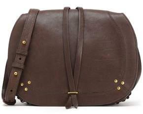 Jerome Dreyfuss Ring-Embellished Textured-Leather Shoulder Bag