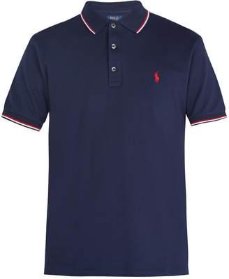 Polo Ralph Lauren Logo-embroidered stretch-cotton piqué polo shirt