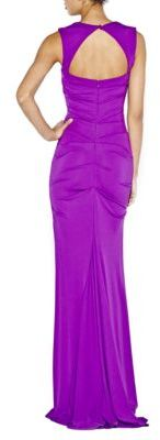 Nicole Miller Draped Open Back Gown