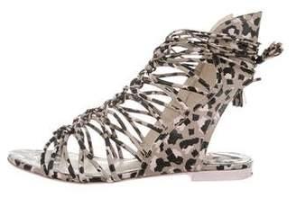 Sophia Webster Printed Cage Sandals