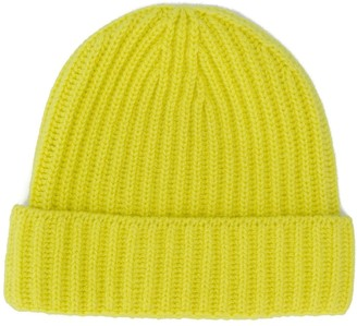 Pringle ribbed beanie hat