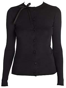 Prada Women's Knit Silk Bow Detail Cardigan