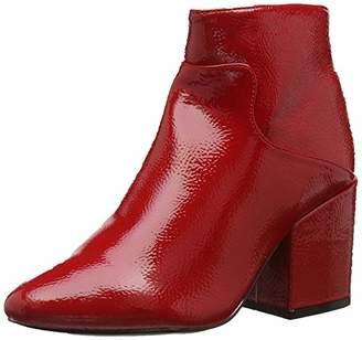 Lost Ink Women's Micha Block Heel Ankle Boot (Wide Fit) (Red 0055), 39 EU