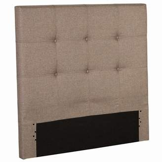 Leggett & Platt Henley Upholstered Kids Headboard Panel with Button Tufted Design, Sand Castle Finish, Twin