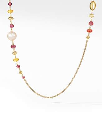 David Yurman Bijoux Bead & Chain Necklace in 18K Gold