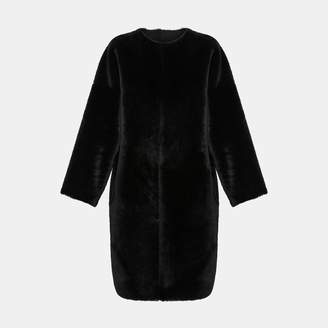 Reversible Shearling Rounded Coat