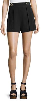 Derek Lam 10 Crosby Crepe Shorts with Grommet Details