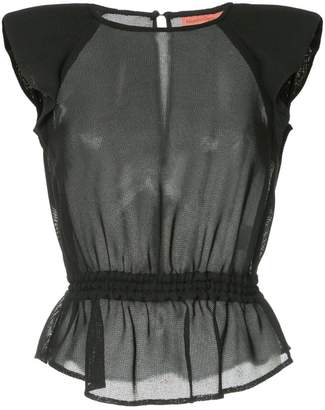 Manning Cartell frill-trim short-sleeve blouse