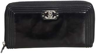 Chanel Boy Black Patent leather Wallets