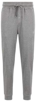 BOSS Hugo Loungewear pants in melange single-jersey cotton S Grey