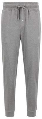 BOSS Hugo Loungewear pants in melange single-jersey cotton L Grey