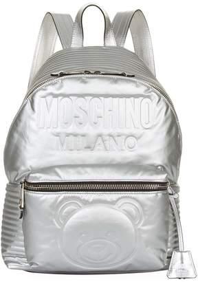 Moschino Metallic Space Teddy Backpack
