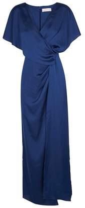 Keepsake Uncovered Dark Blue Draped Gown