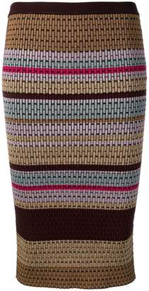 Diane von Furstenberg knitted panel pattern skirt