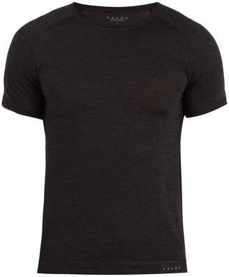FALKE ESS Crew-neck wool and silk-blend T-shirt