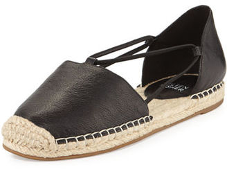 Eileen Fisher Lee Leather d'Orsay Espadrille Flat $135 thestylecure.com