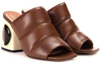 Sabot leather sandals