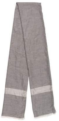 Sofia Cashmere Silk & Cashmere-Blend Scarf Grey Silk & Cashmere-Blend Scarf
