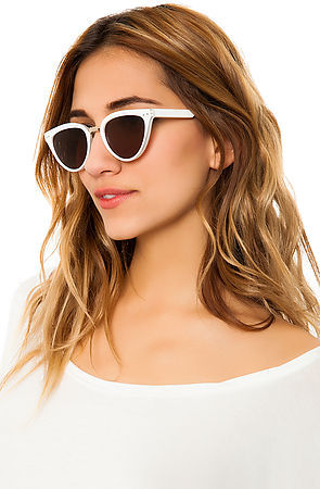 Spitfire Sunglasses The Yazhoo Sunglasses in White and Gold