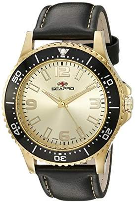 Seapro Men's SP5315 Analog Display Quartz Black Watch