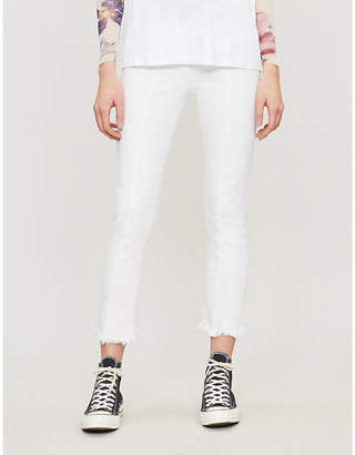 Paige Frayed-cuff slim high-rise jeans