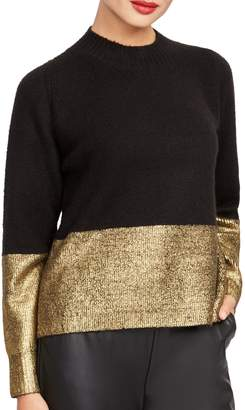 Rachel Roy Gwen Foil Metallic Sweater
