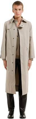 Vejas Cotton Trench Coat W/ Rounded Details