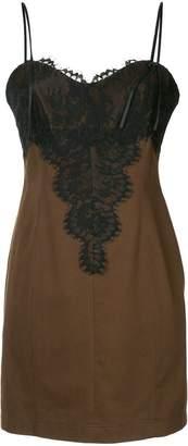 We11done lace trim slip dress