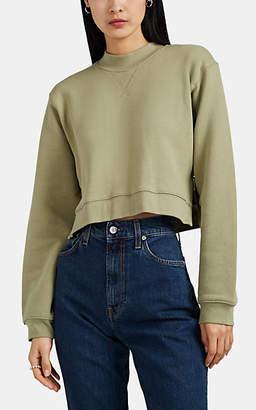 Current/Elliott Women's Message Cotton Crop Sweatshirt - Green