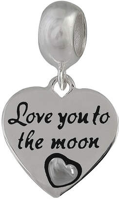 JCPenney FINE JEWELRY Forever Moments Heart-Shaped Love You to the Moon Bead