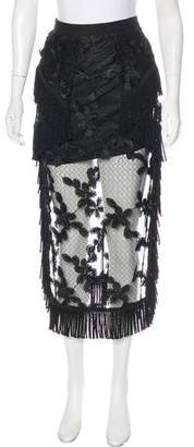 Alice McCall Embroidered Midi Skirt w/ Tags
